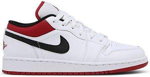 "NIKE - Air Jordan 1 Low GS ""White/Gym Red"" -NOVO-"