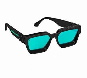 "LOUIS VUITTON - Óculos 1.1 Millionaires ""Preto/Verde"" -NOVO-"