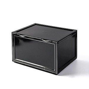 "SNEAKERBOX - Caixa Plástica para Armazenamento (Porta lateral) ""Preto"" -NOVO-"