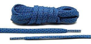 Cadarço Flat Refletivo - Azul - 125 cm