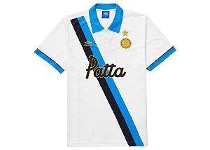 "PATTA x UMBRO - Camisa Polo Football Jersey ""Branco"" -NOVO-"