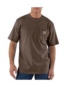 """CARHARTT - Camiseta Pocket Original Fit """"Marrom Escuro"""" -NOVO-"""