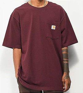 "CARHARTT - Camiseta Pocket Loose Fit ""Vinho"" -NOVO-"