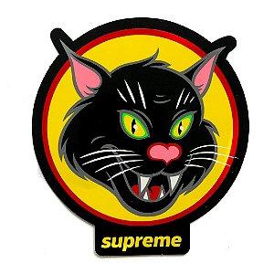 """SUPREME - Adesivo Black Cat """"Preto"""" -NOVO-"""