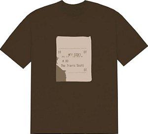 "TRAVIS SCOTT x CPFM - Camiseta Grill Slip ""Marrom"" -NOVO-"