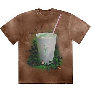 """TRAVIS SCOTT x MCDONALD'S - Camiseta Grail """"Marrom"""" -NOVO-"""