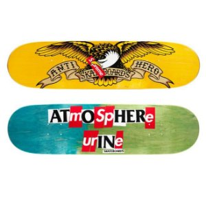 "SUPREME x ANTIHERO - Shape Skate Bird ""Verde/Azul"" -NOVO-"