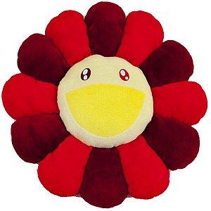"""TAKASHI MURAKAMI - Pelúcia Flower Cushion """"Vermelho"""" -NOVO-"""