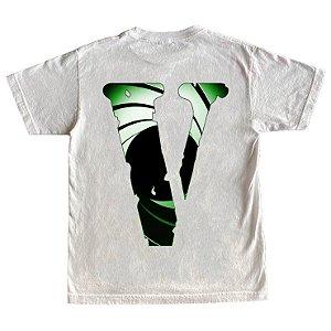 """VLONE x JUICE WRLD x XO - Camiseta Double Agent """"Branco"""" -NOVO-"""