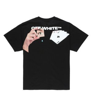 "OFF-WHITE - Camiseta Hand Card Over ""Preto"" -NOVO-"