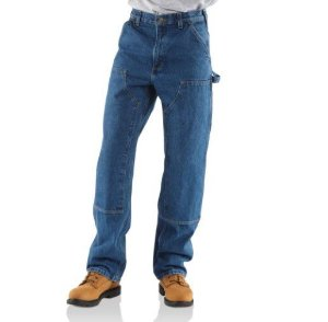 "CARHARTT - Calça Double Front Denim Logger Dungaree ""Jeans"" -NOVO-"