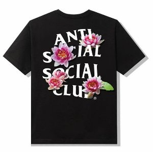 """ANTI SOCIAL SOCIAL CLUB - Camiseta Zen Out """"Preto"""" -NOVO-"""