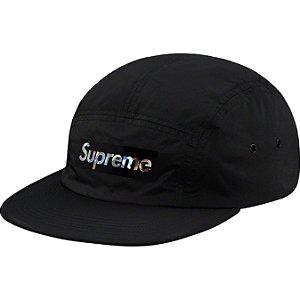 """SUPREME - Boné Holographic Logo SS19 """"Preto"""" -NOVO-"""