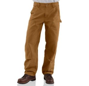 """CARHARTT - Calça Double Front Washed Duck Dungaree """"Marrom"""" -NOVO-"""