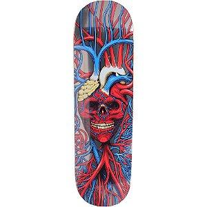 "STRANGELOVE - Shape de Skate Heart Skull Sean Cliver ""Prata"" -NOVO-"