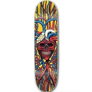 "STRANGELOVE - Shape de Skate Heart Skull Sean Cliver ""Amarelo"" -NOVO-"