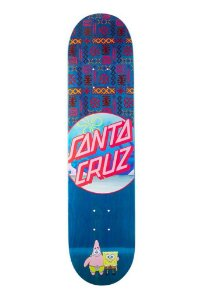 """SANTA CRUZ x BOB ESPONJA - Shape de Skate Best Buds """"Azul"""" -NOVO-"""