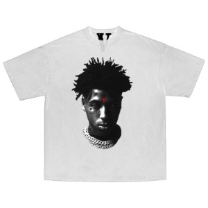 "VLONE x NBA x YOUNGBOY - Camiseta Reaper's Child ""Branco"" -NOVO-"