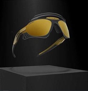 "OAKLEY - Óculos Xeus Olympic Gold Nº378 ""Prism 24k Dual iridum"" -NOVO-"