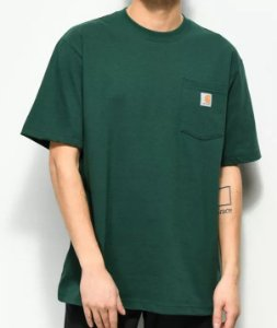 "CARHARTT - Camiseta Pocket Loose Fit ""Verde"" -NOVO-"
