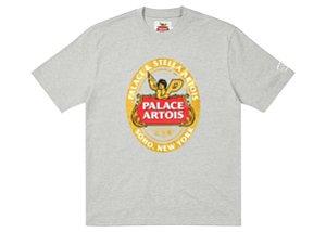 "PALACE x STELLA ARTOIS - Camiseta Coaster ""Cinza"" -NOVO-"