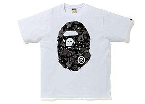 "BAPE - Camiseta Space Camo Big Ape Head ""Branco"" -NOVO-"