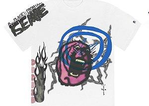 """TRAVIS SCOTT x FRAGMENT DESING - Camiseta Cactus Jack Sunrise """"Branco"""" -NOVO-"""