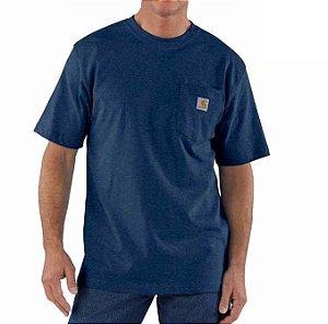 "CARHARTT - Camiseta Pocket Loose Fit ""Dark Cobalt"" -NOVO"