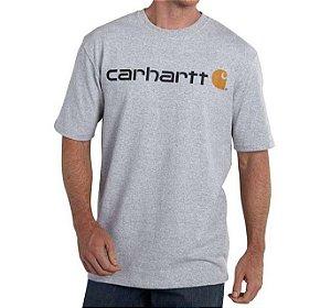 """CARHARTT - Camiseta Signature Logo Loose Fit """"Cinza"""" -NOVO-"""