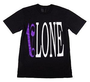 "VLONE x PALM ANGELS - Camiseta ""Preto/Roxo"" -NOVO-"