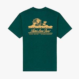 "AIMÉ LEON DORE - Camiseta Unisphere ""Verde"" -NOVO-"