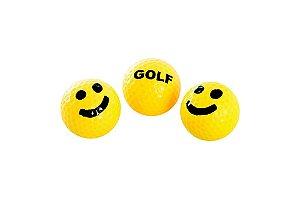 GOLF WANG - Kit com 3 bolas de golf Smiley
