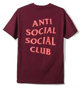 "ANTI SOCIAL SOCIAL CLUB - Camiseta Logo 2 ""Bordô"" -NOVO-"