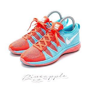 """Nike Flyknit Lunar 2 """"Bright Crimson/Polarized Blue"""""""