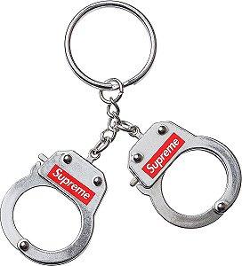 """!SUPREME - Chaveiro Handcuff """"Prata"""" -NOVO-"""