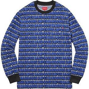 "SUPREME - Camiseta Super Hardcore Jacquard Top ""Blue"""