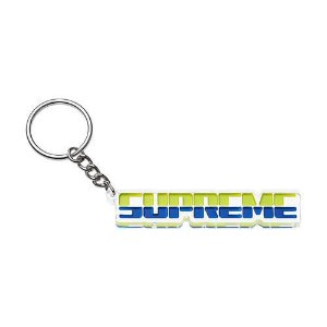 "SUPREME - Chaveiro Embossed ""Green/Blue"""