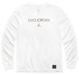"OVO x Jordan Brand - Camiseta Manga Longa OVO JORDAN ""White"""