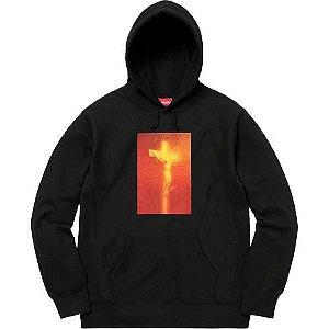 """Supreme x Andres Serrano - Moletom Piss Christ """"Black"""""""