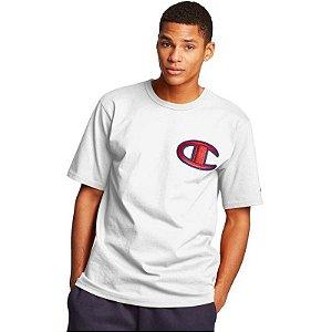 "CHAMPION - Camiseta Logo Patch C ""Branco"" -NOVO-"