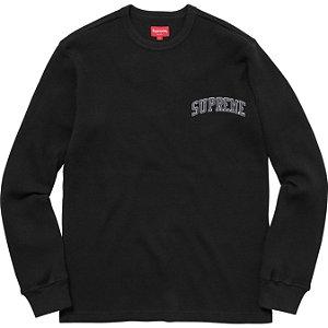 """SUPREME - Camiseta Manga Longa Arc Logo Thermal """"Black"""""""