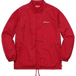 "SUPREME - Jaqueta Coache Arabic Logo ""Red"""
