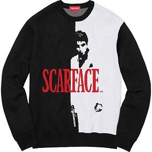 "Supreme x Scarface - Suéter ""Black/White"""