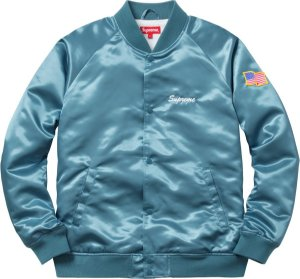 "SUPREME - Jaqueta Bomber Betty Boop ""Light Blue"""