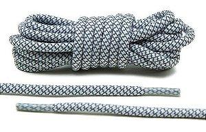 Cadarço Rope Refletivo - Branco e Cinza - 82 cm