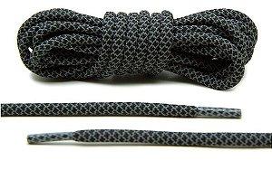Cadarço Rope Refletivo - Preto e Cinza - 82 cm