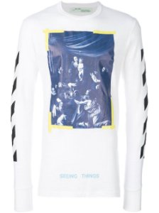 OFF-WHITE - Camiseta  Diag Caravaggio ''White''