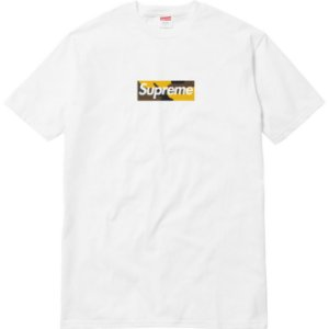 "SUPREME - Camiseta Brooklyn Box Logo ""White"" -USADA-"