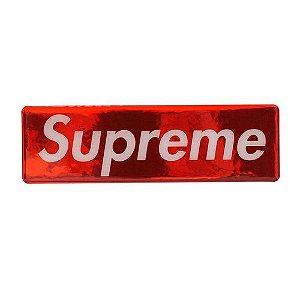 "SUPREME - Adesivo Metallic Box Logo ""Red"""