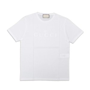 "GUCCI - Camiseta Trademark Logo Slim ""White"""